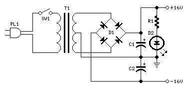 Электропитание для аудиоусилителя класса B 7 Вт